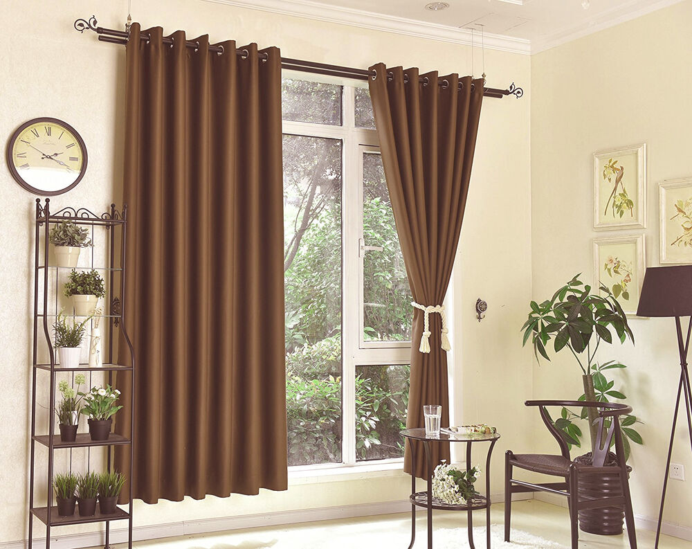 blockout eyelet curtains 100 blackout room darkening ebay