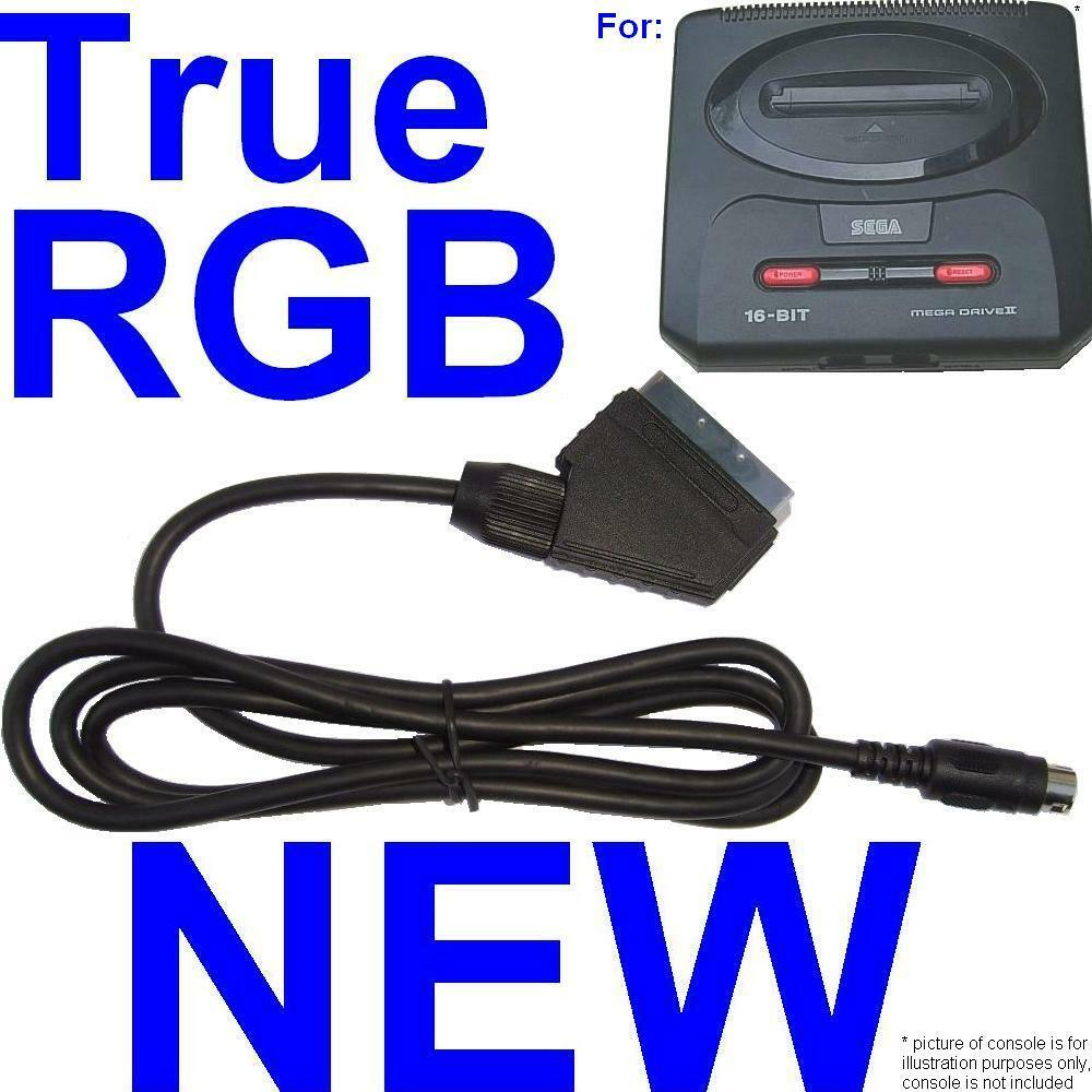 Rgb Scart Cable Tv Av Lead For Sega Megadrive Ii 2 High