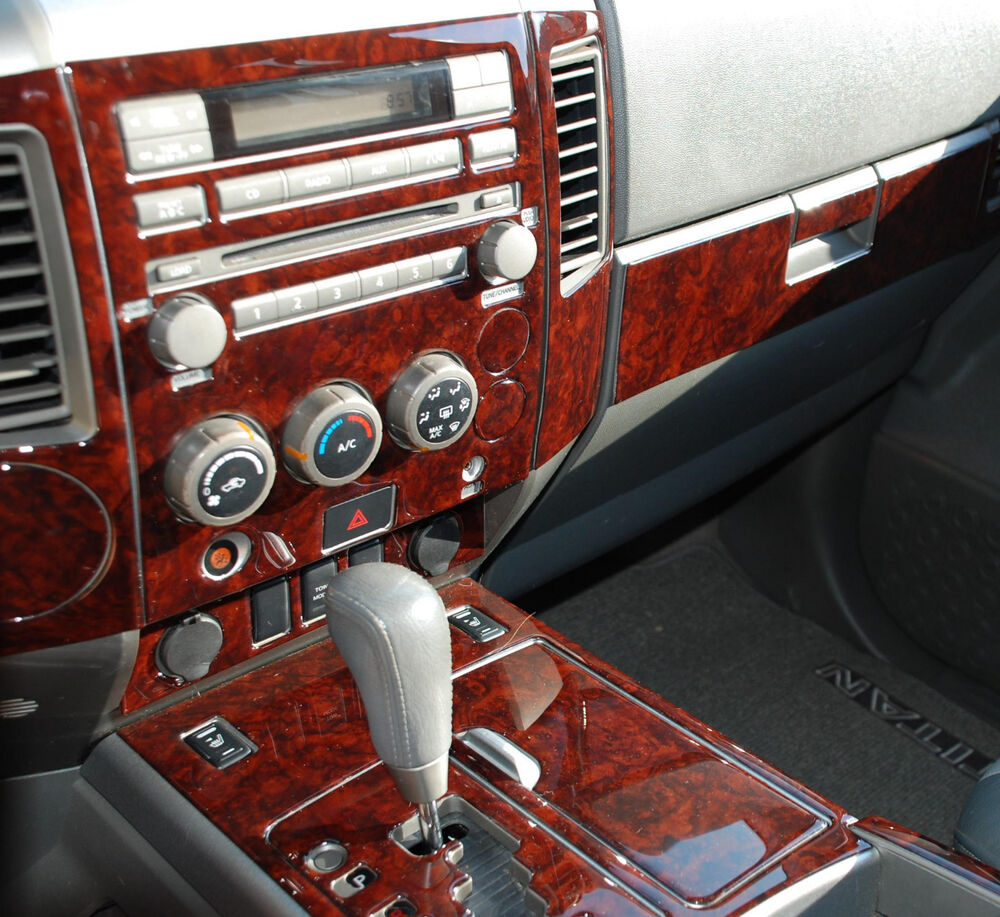2004 2005 2006 2007 interior wood dash trim kit set for nissan titan armada le ebay - Kit de interior ...