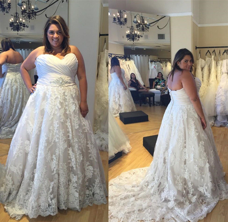 Real Brides Size 12: White/Ivory Wedding Dresses Bridal Gowns Custom Plus Size