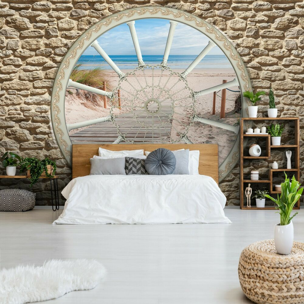 vlies fototapete tapeten ausblick insel terrasse natur fenster 3d 14n3602vexxxl ebay. Black Bedroom Furniture Sets. Home Design Ideas