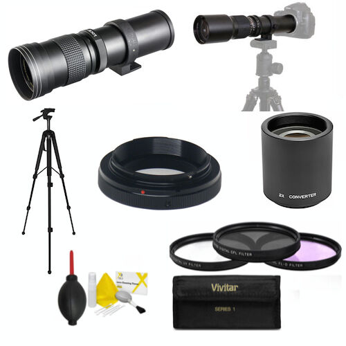 420mm 1600mm telephoto zoom lens for canon eos rebel 1100d. Black Bedroom Furniture Sets. Home Design Ideas