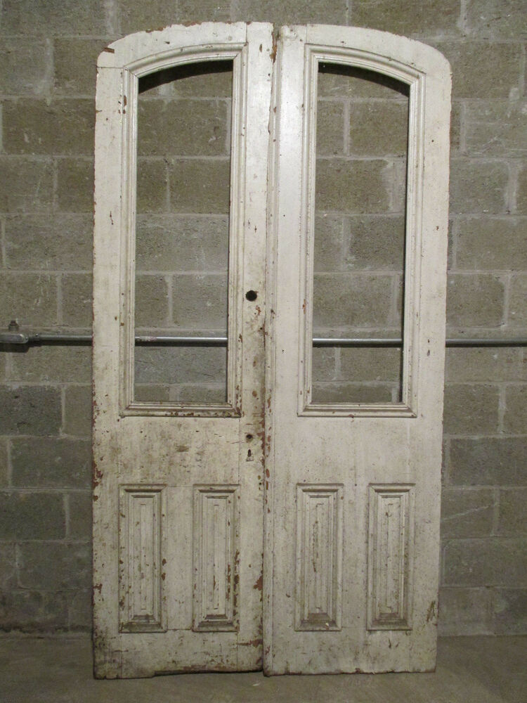 Antique double entrance french doors 48 x 89 for French doors main entrance