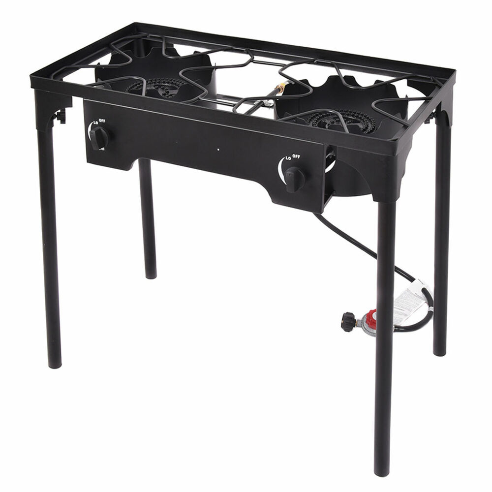 Double Burner Gas Propane Cooker Outdoor Camping Picnic ...
