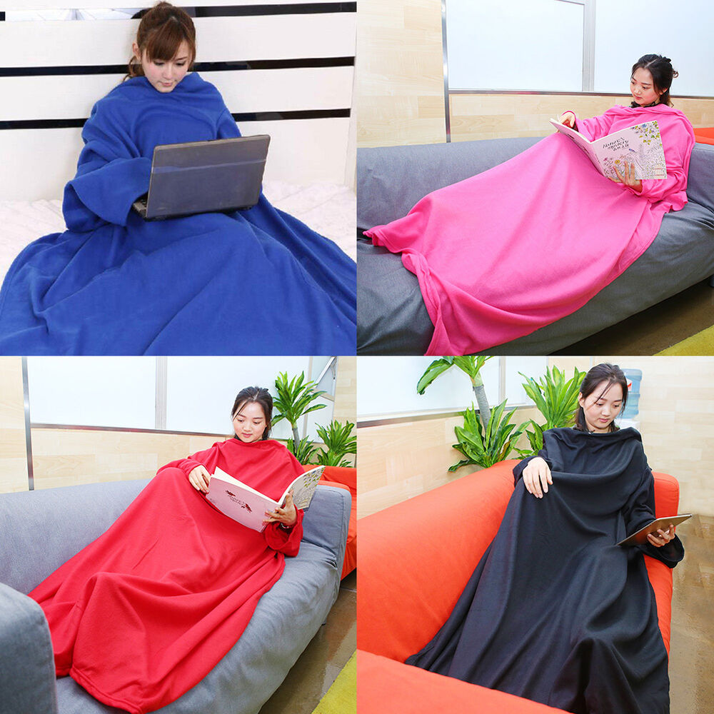 High Quality Sleeved Cuddle Blanket Throw Snuggle With