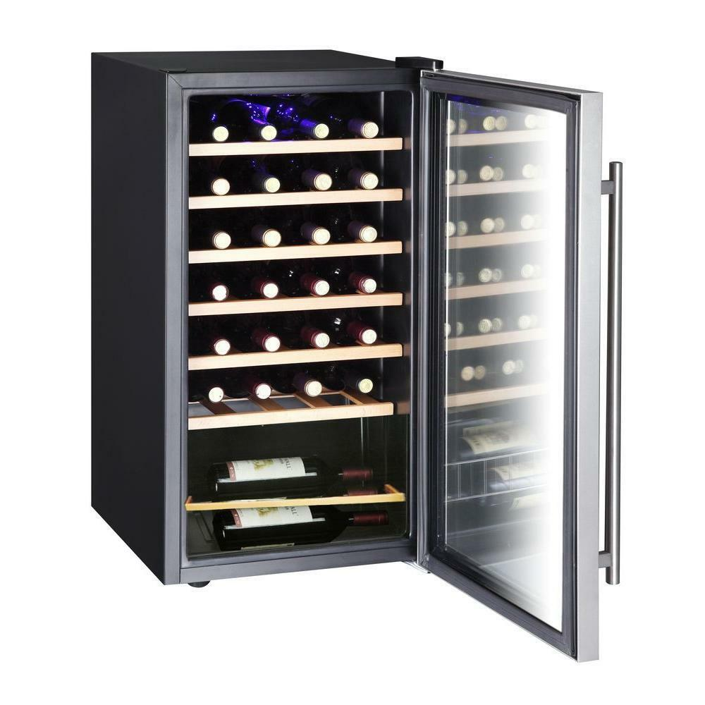 VISSANI 28 BOTTLE 17 INCH WINE COOLER STAINLESS STEEL DOOR TEMP CONTROL NEW