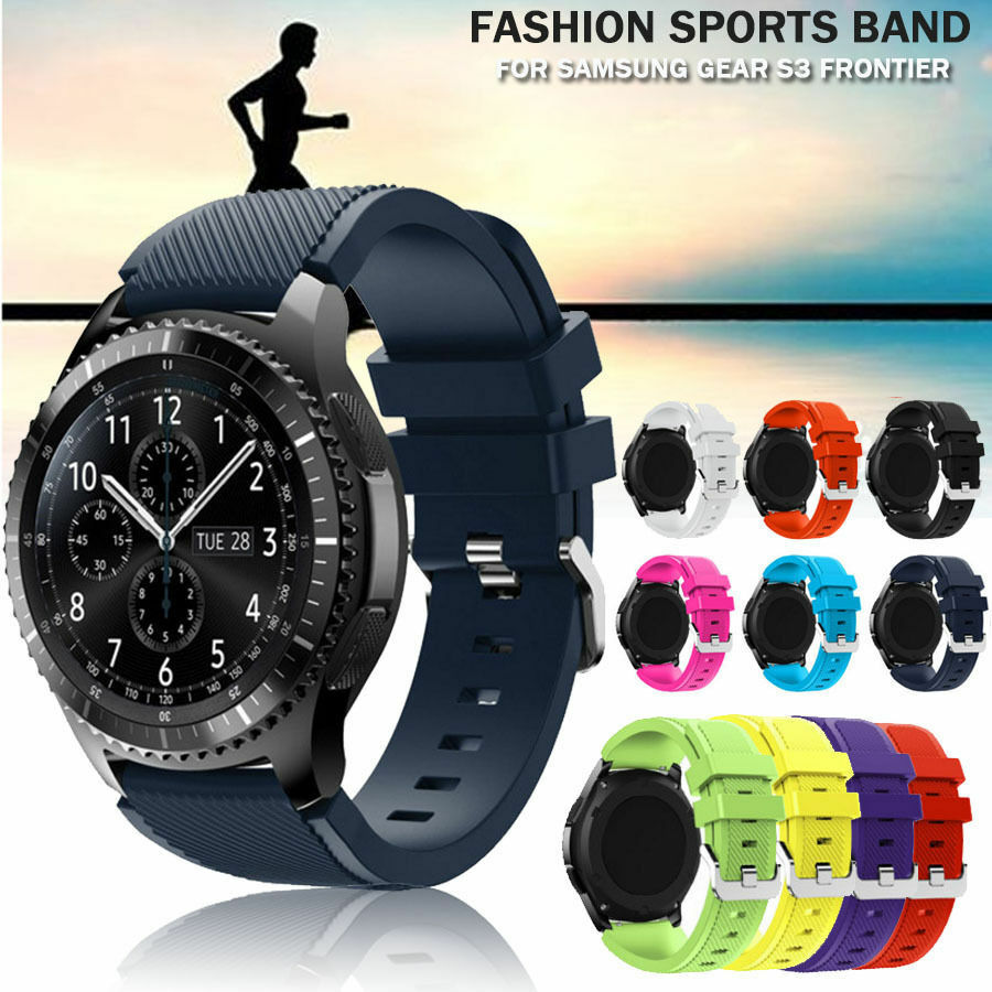 new sports silicone replacement band strap bracelet for samsung gear s3 frontier ebay. Black Bedroom Furniture Sets. Home Design Ideas