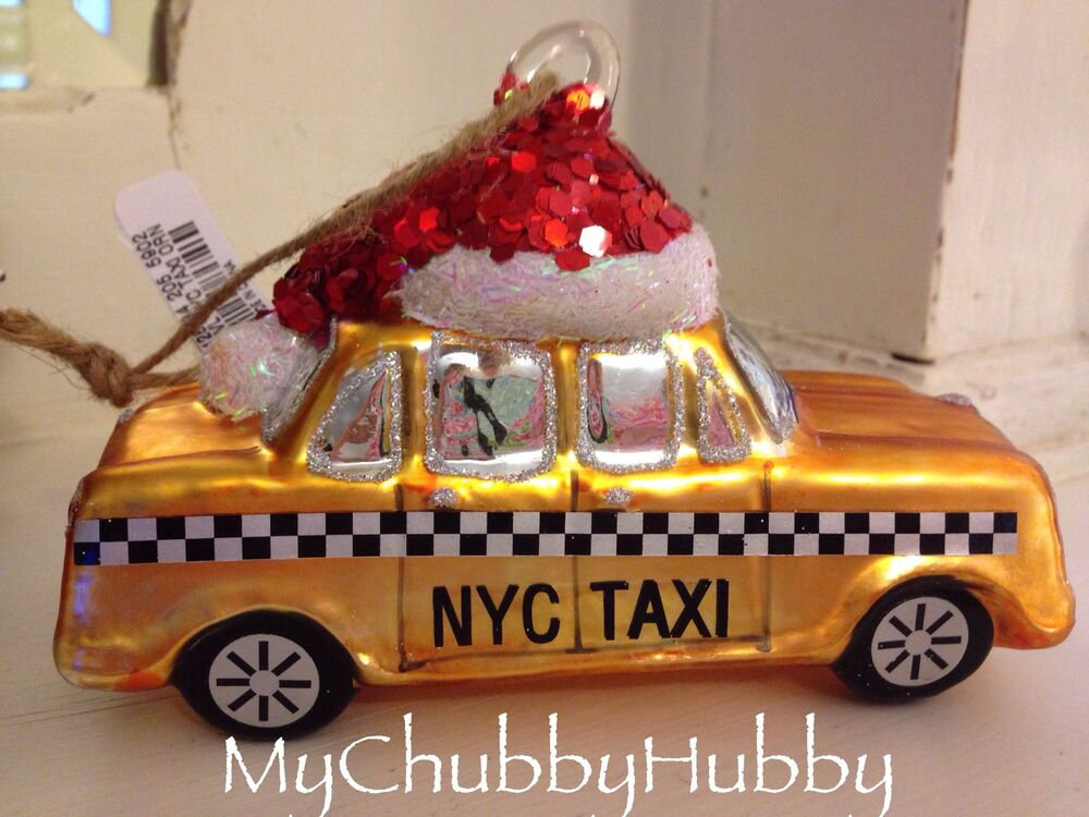 Nwt Pottery Barn Nyc Taxi Cab Holiday Ornament