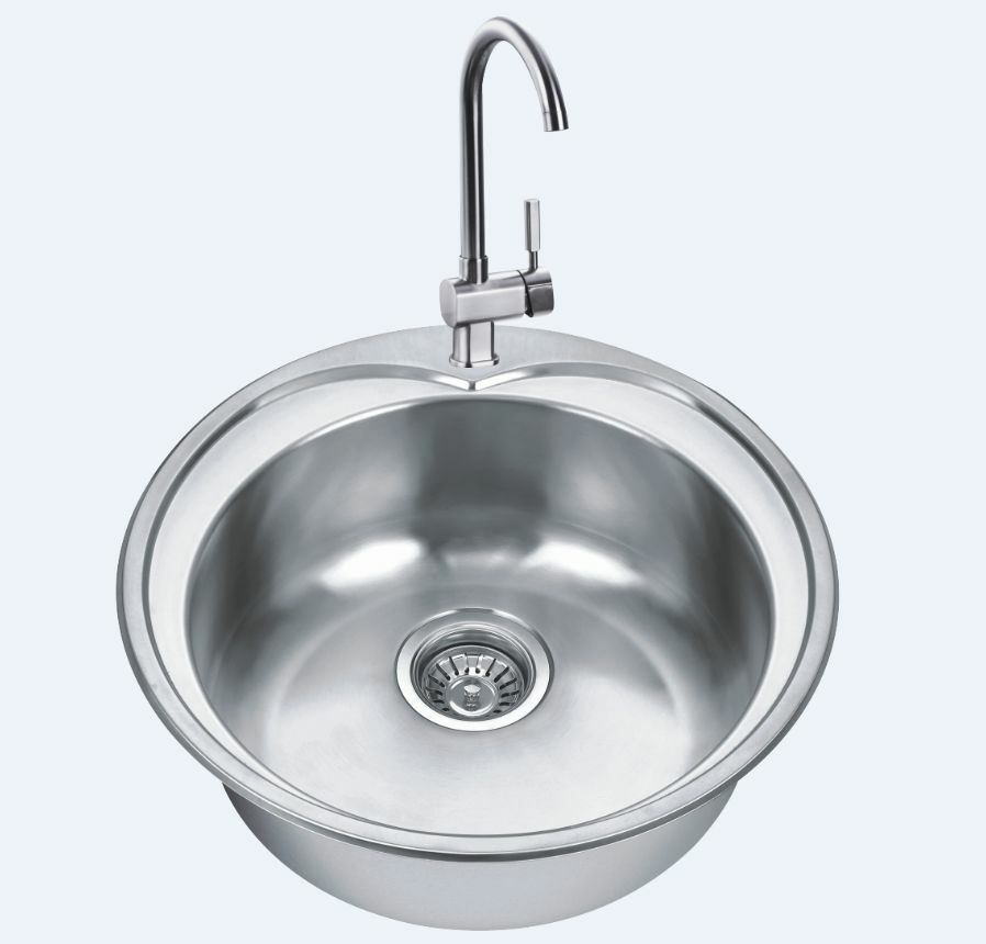 Rv caravan camper stainless steel round hand wash basin kitchen sink gr 541 ebay - Caravan kitchen sink ...