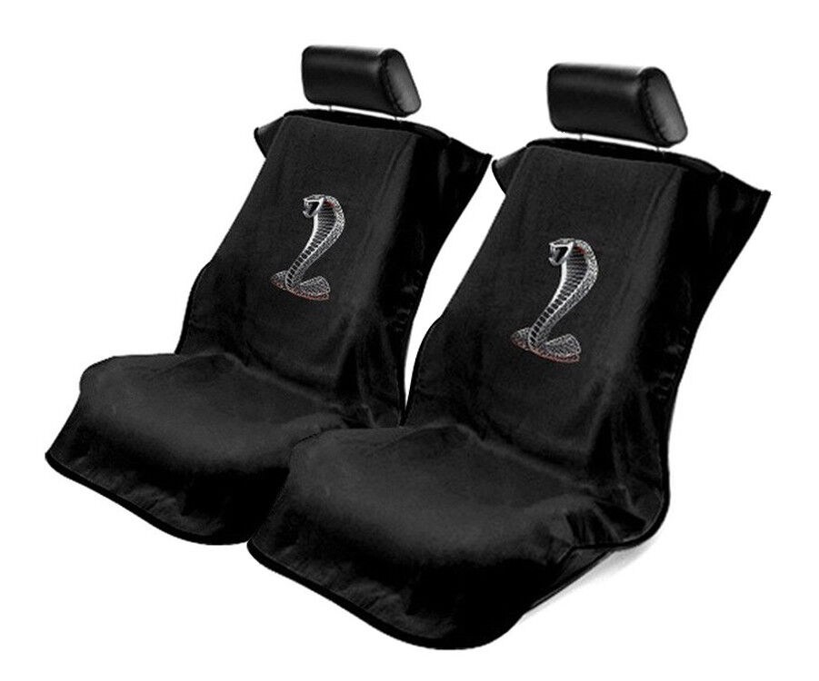 seat armour black towel seat covers for mustang cobra pair ebay. Black Bedroom Furniture Sets. Home Design Ideas