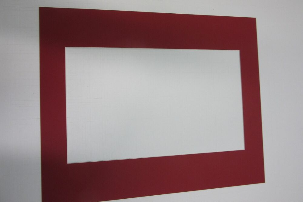 Picture Frame Mat 17x21 For 10 5x17 Newspaper Deep Red