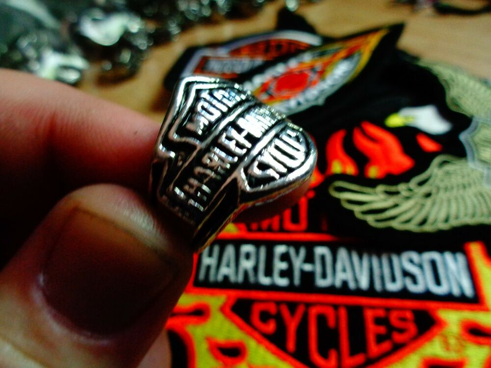 Vintage harley davidson ring factory hd motorcycle for Harley davidson jewelry ebay