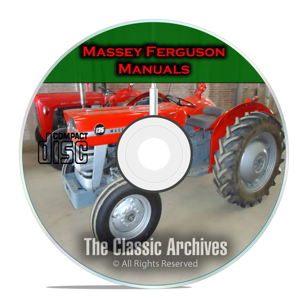 Massey Ferguson Shop Service Manuals, MF35 MF135, MF150, MF165, 34 total,  CD F53 | eBay
