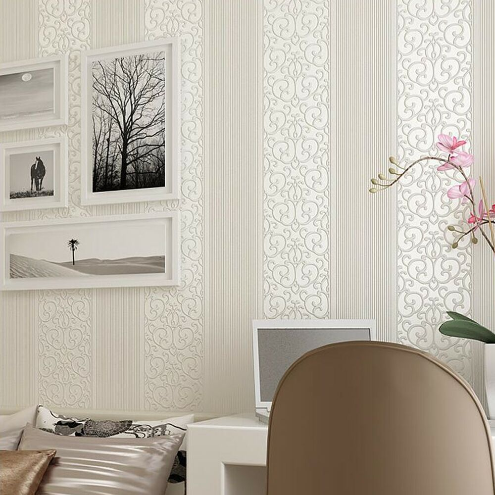 10m modern 3d simple wallpaper non woven roll mural home for Mural 3d simple