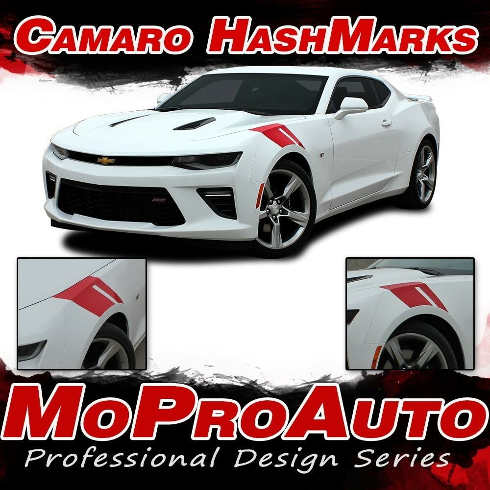 2016 Chevrolet Ss Camshaft: 2016-2018 SS Chevy Camaro RS HASHMARKS Decals Stripe 3M