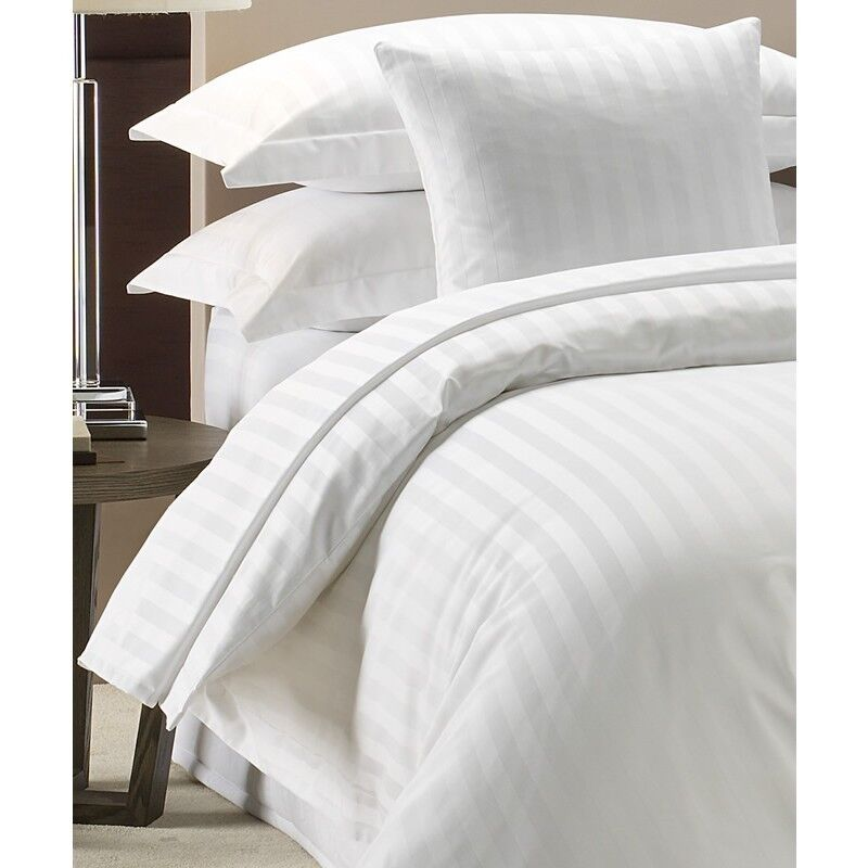 100 Luxury Hotel Quality Cotton Satin Stripe Duvet Cover