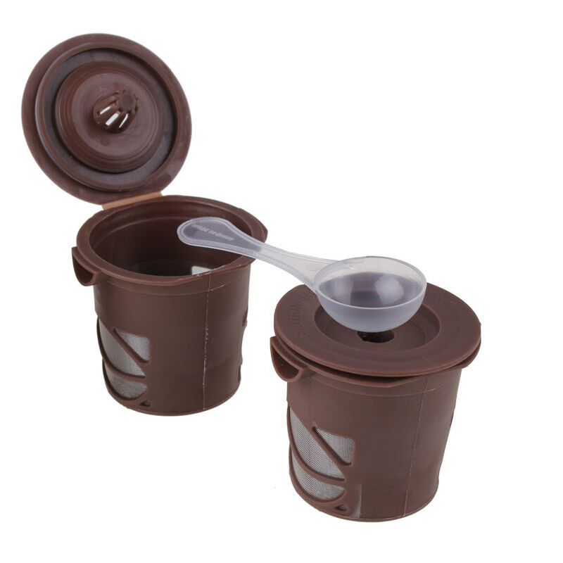 One Cup Coffee Maker With Reusable Filter : 1x Reusable Single Cup Coffee Funnel Filter Pod For K-Cups Coffee Stainless Mesh eBay
