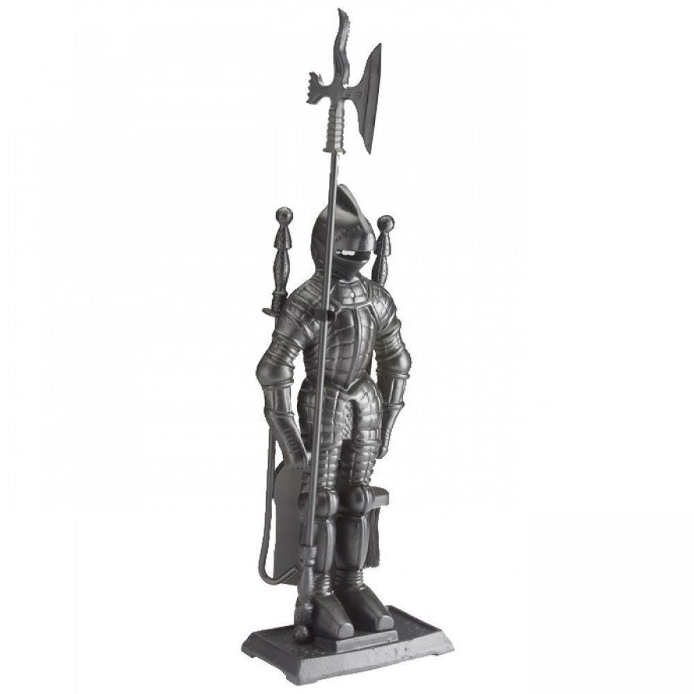 crafters cast iron knight soldier companion set fireside. Black Bedroom Furniture Sets. Home Design Ideas