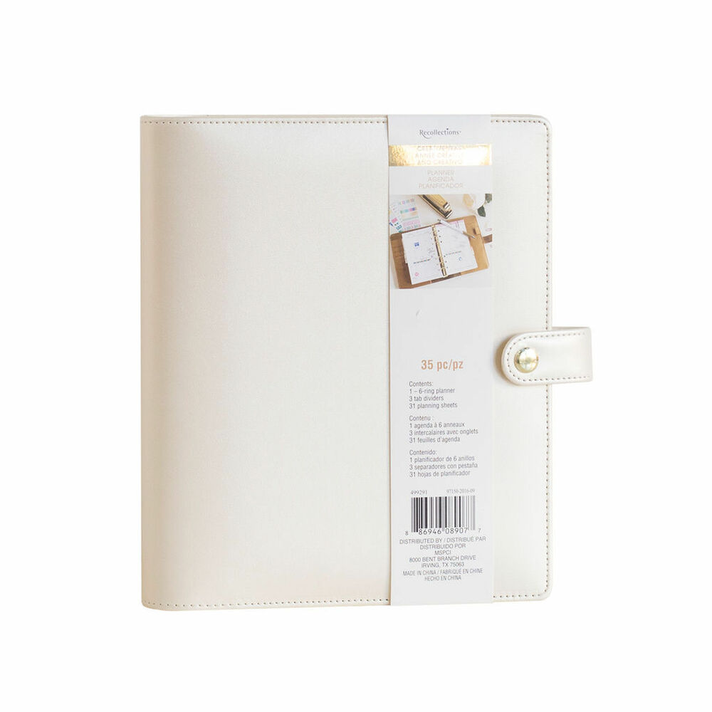 new recollections creative year a5 6 gold ring planner