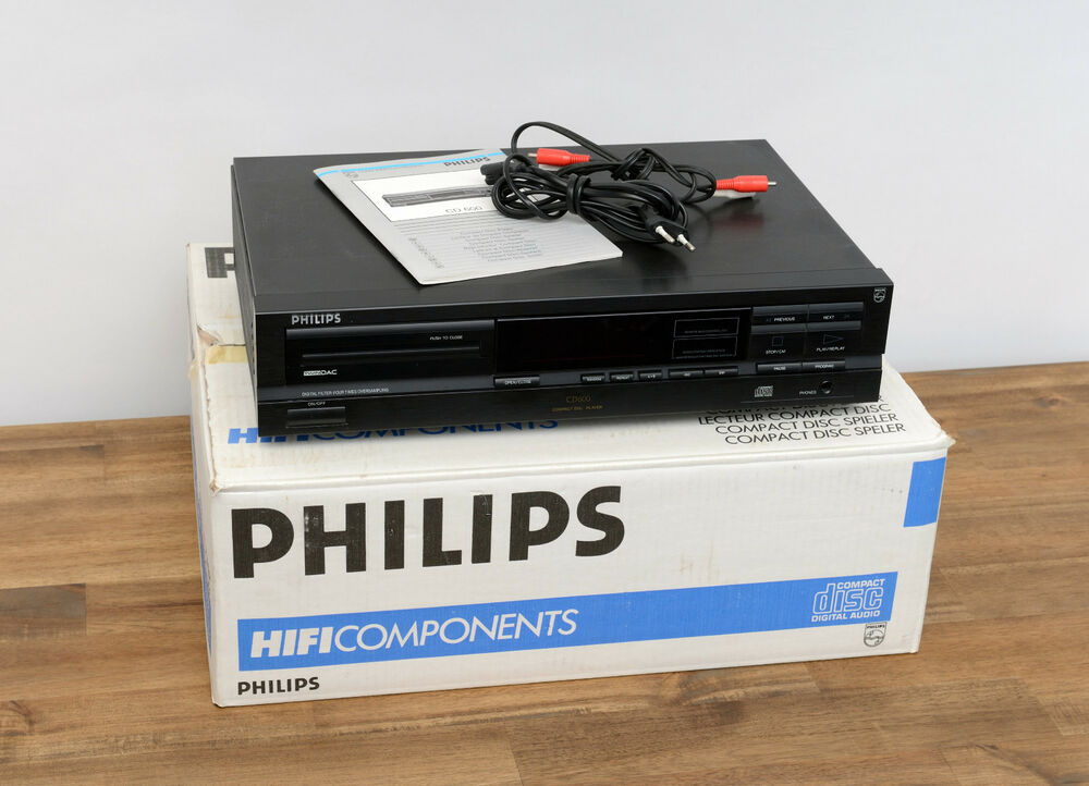 philips cd 600 cd player in schwarz mit ovp ebay. Black Bedroom Furniture Sets. Home Design Ideas