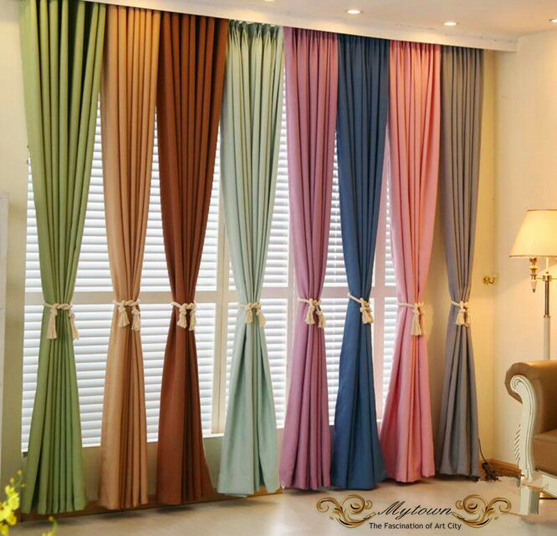 Grey White Brown Curtains