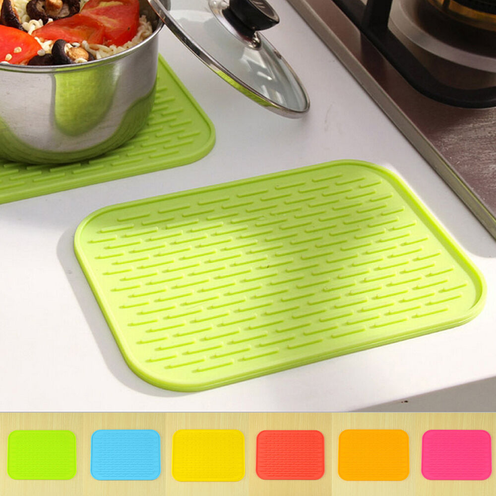 Kitchen Trivets: Silicone Hot Pads Trivets Heat Resistant Non-Slip Coaster