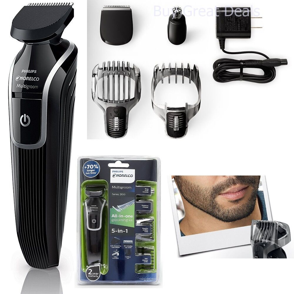 cordless hair trimmer clipper phillips men razor kit nose beard shaver new ebay. Black Bedroom Furniture Sets. Home Design Ideas