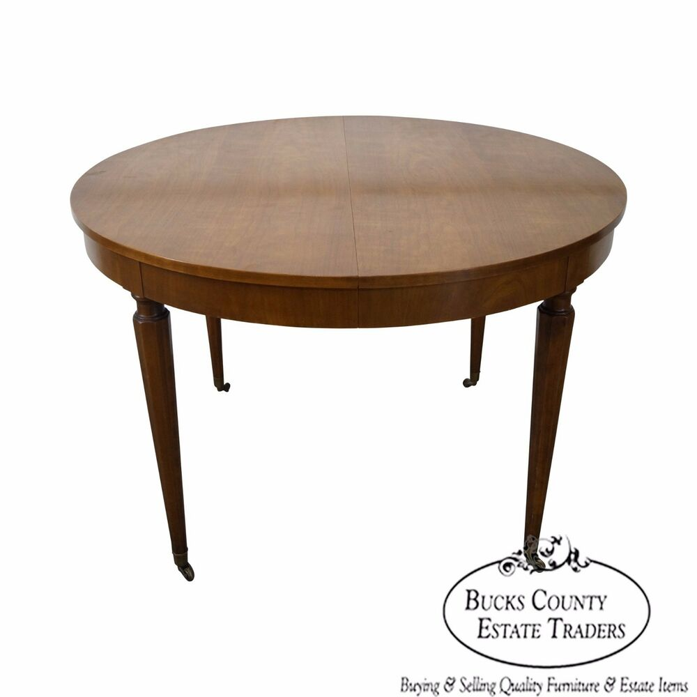 Kindel vintage regency directoire style round extension for Round extension dining table
