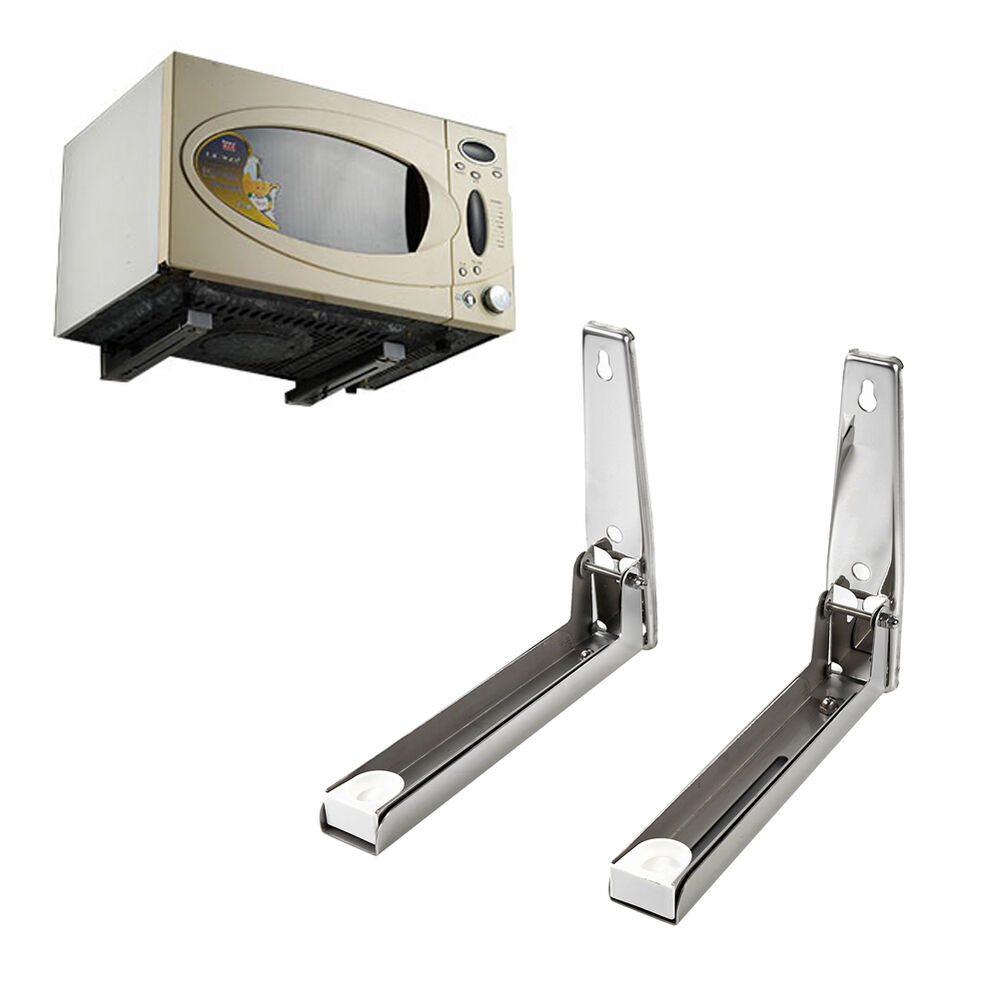 2x Microwave Oven Support Bracket Strong Stand Mount Wall