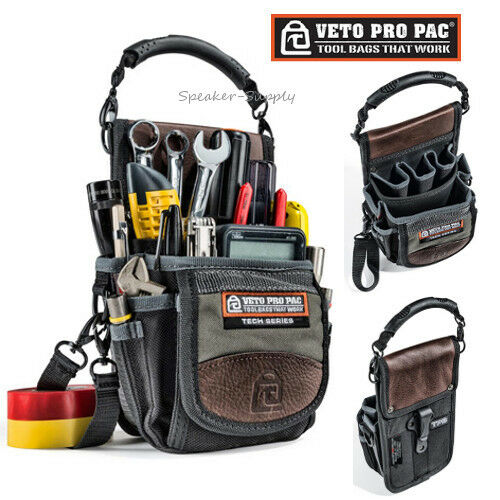 veto pro pac bag tool belt storage installers tech series pouch clip on new t. Black Bedroom Furniture Sets. Home Design Ideas