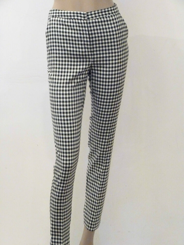 Gingham Cropped Trousers Vintage Gingham Checkered Pants Women's Vintage Monochrome Check Work Trousers Cropped Gingham Pants Black White MarmaladeVintageCo 5 out of 5 stars.