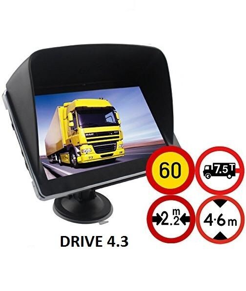 4 3 gps navigationsger t navi f r lkw pkw bus wohnmobil. Black Bedroom Furniture Sets. Home Design Ideas