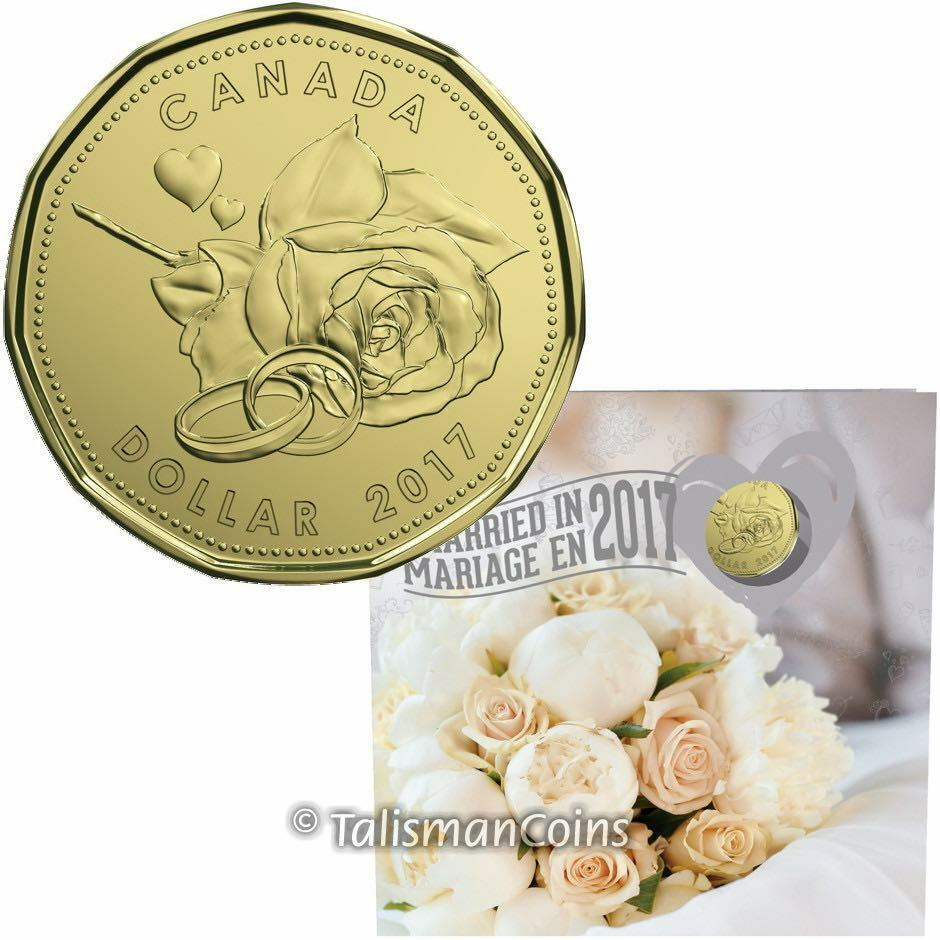 Wedding Gift Etiquette Canada 2017 : Canada 2017 Wedding 5 Coin Mint Gift Set w Special Rose Hearts & Rings ...