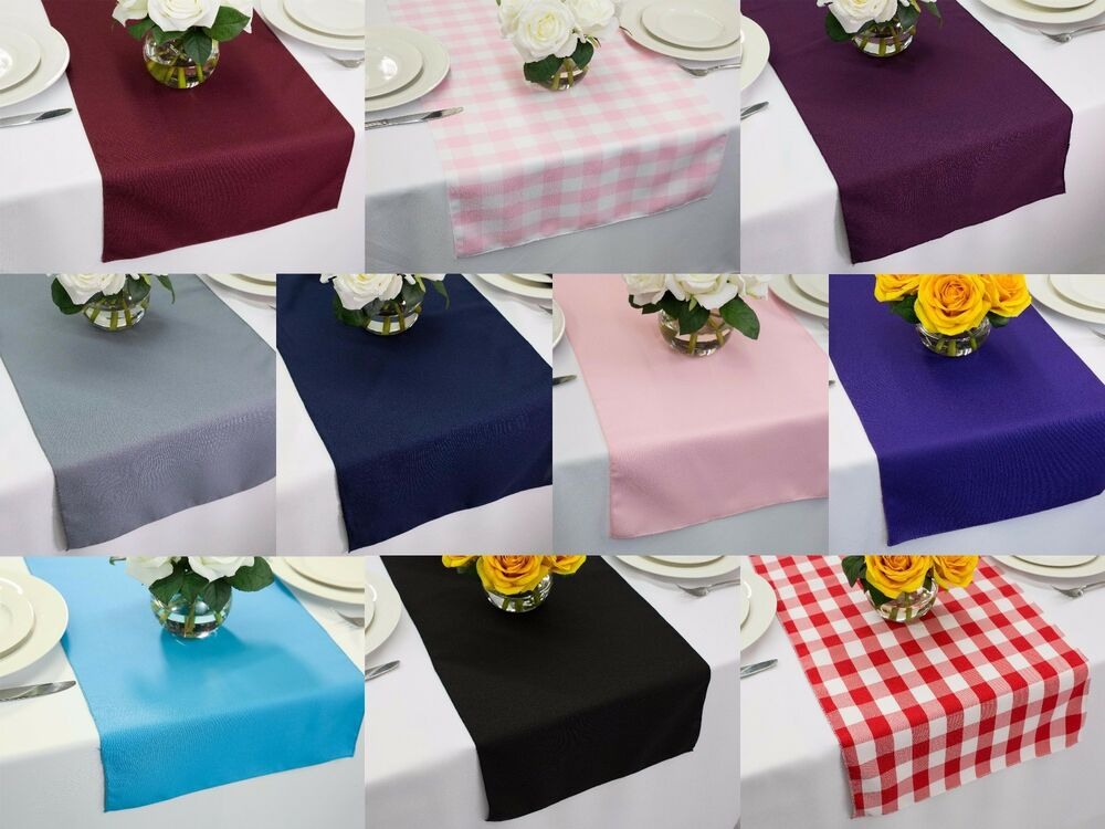14 x 120 inch polyester table runners multiple colors for 120 table runners
