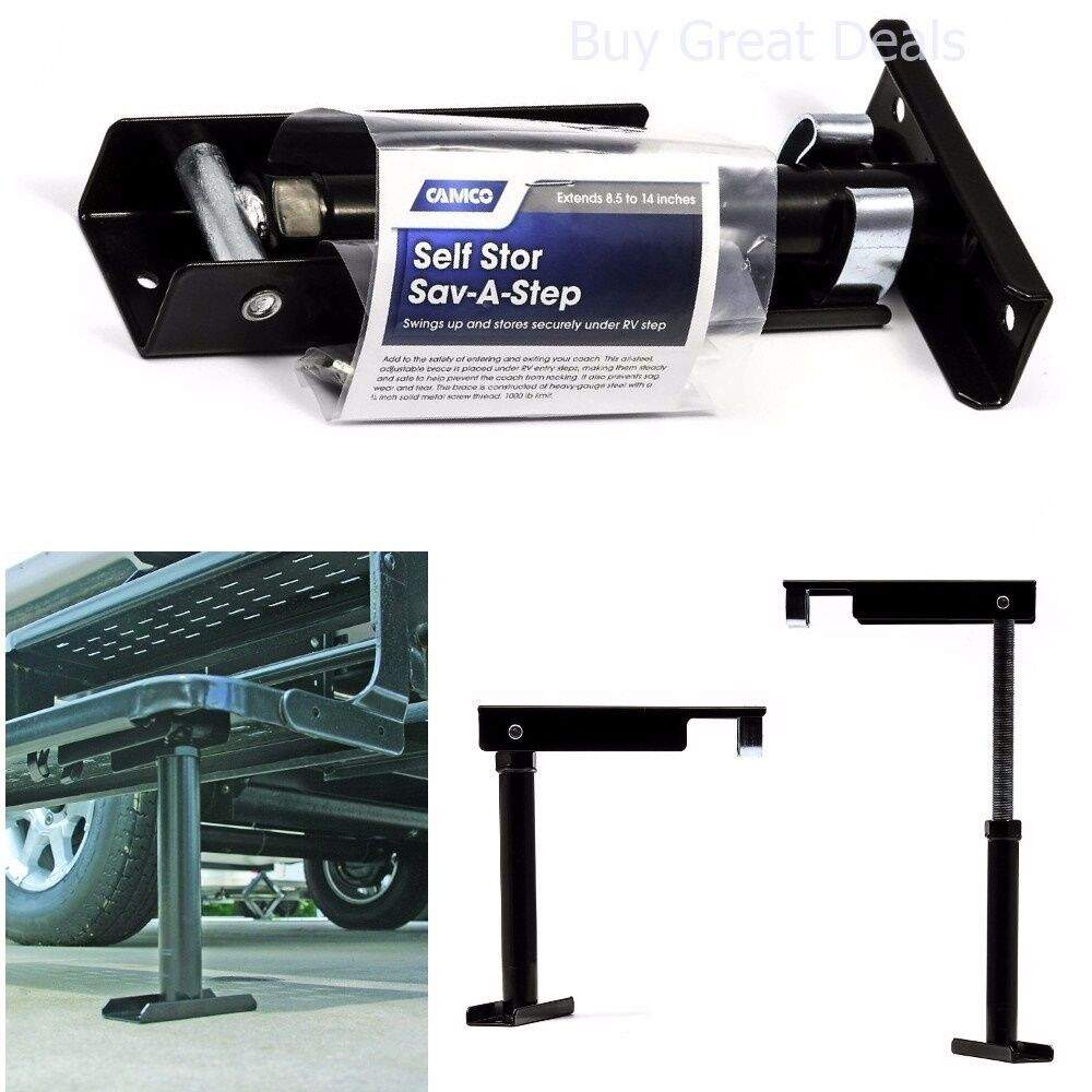 Camco Rv Self Store Step Folding Stabilizer Stairs