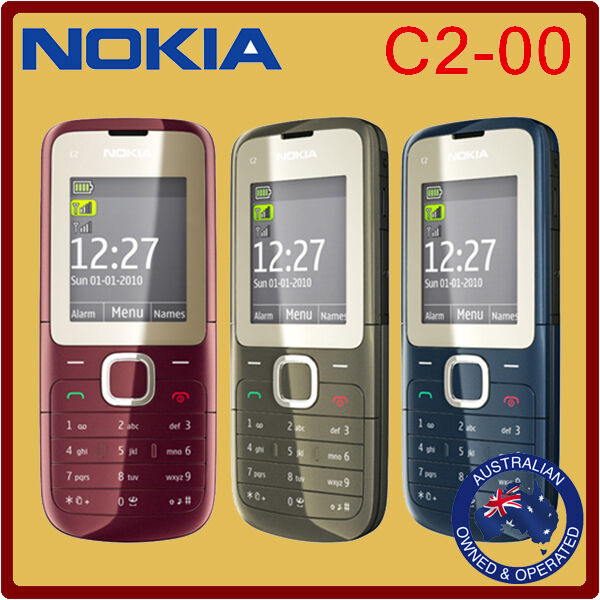 classic genuine unlocked nokia c2 00 mobile phone black. Black Bedroom Furniture Sets. Home Design Ideas