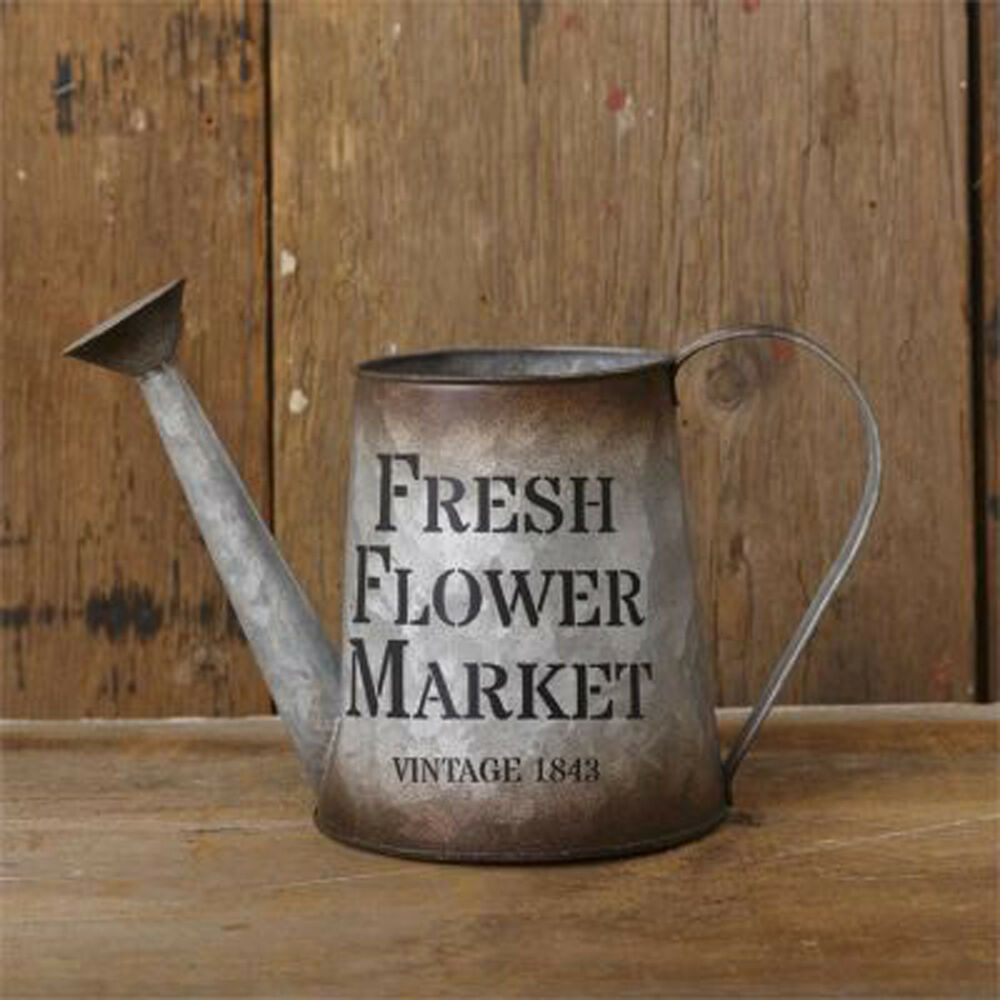 Rustic Decor Vintage Tin Watering Can Fresh Flower Market