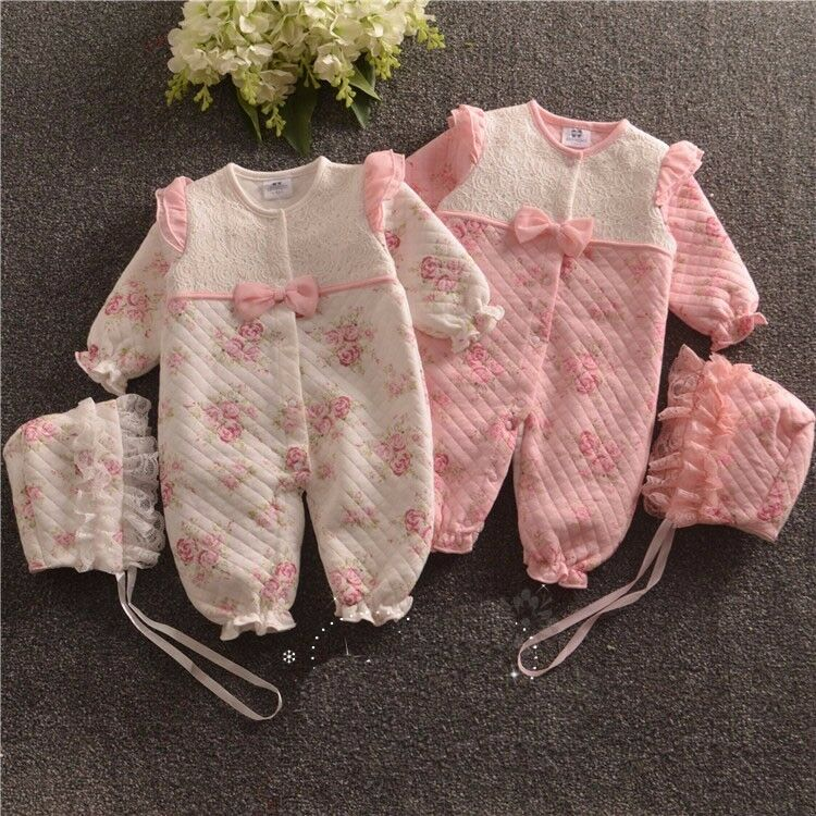 Baby Newborn Girl Clothes Fall Winter Outfits Warm Padded