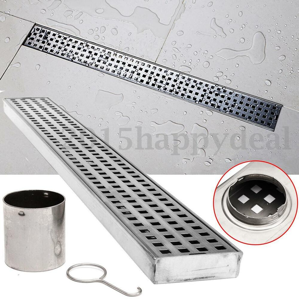 Bathroom Tile Floor Drain : Quot stainless steel tile insert linear shower grate