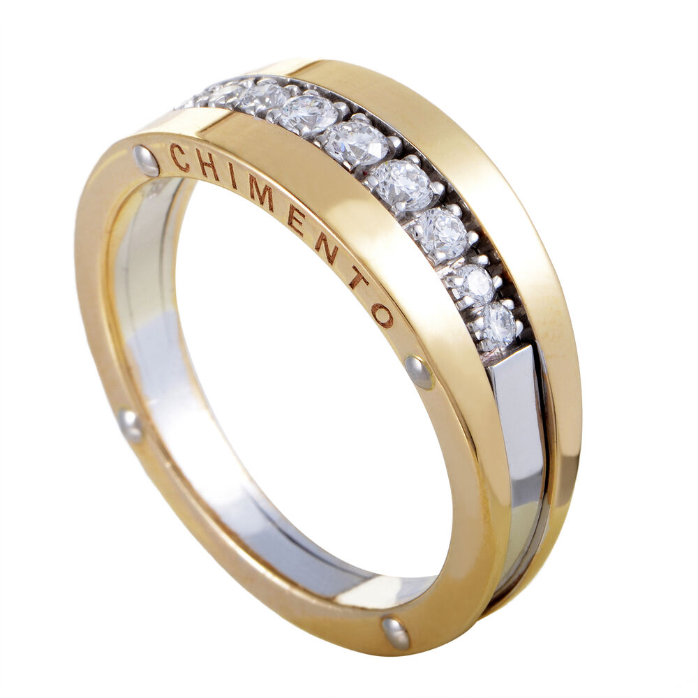 Chimento Aeternitas Womens 18k Yellow And White Gold