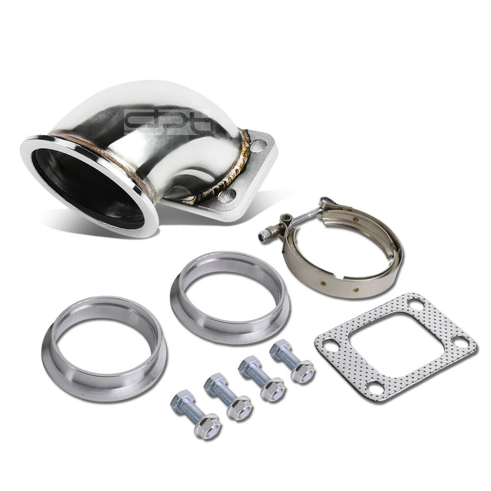 Quot vband to t turbo charger manifold stainless angle