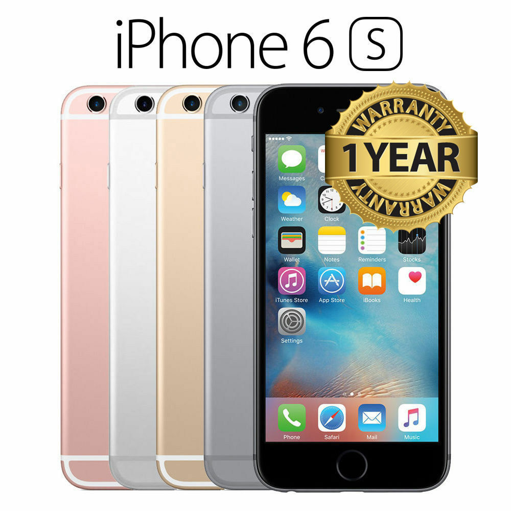 apple iphone 6s 16gb 64gb brand new sealed unlocked smart phone gold silver gray ebay. Black Bedroom Furniture Sets. Home Design Ideas