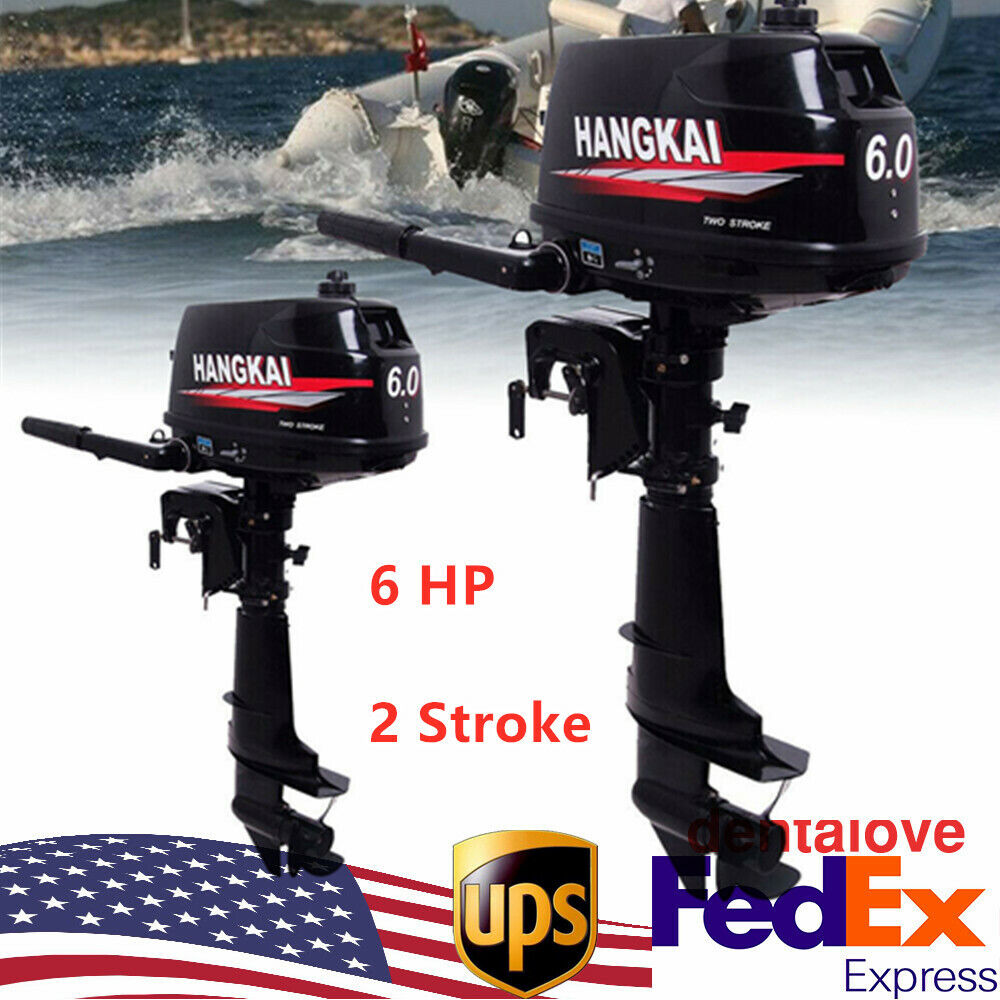 Hangkai 6 Hp 2 Stroke Outboard Motor Boat Engine With