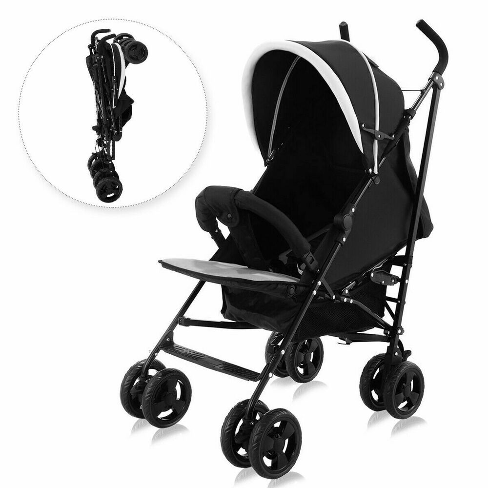foldable baby stroller buggy kids jogger travel infant pushchair lightweight ebay. Black Bedroom Furniture Sets. Home Design Ideas