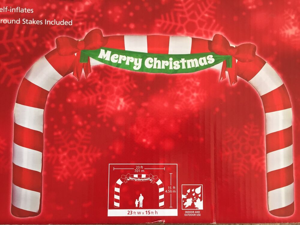 New 23 Ft X 15 Merry Christmas Lighted Giant Sized Candy