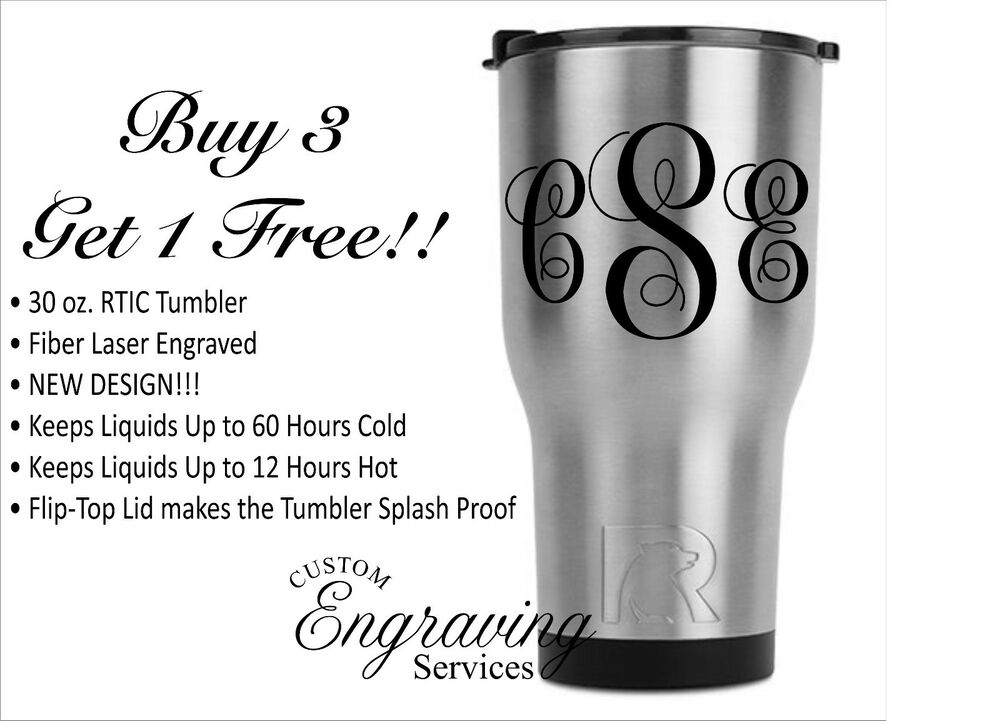 8da947b1e7b Details about PERSONALIZED RTIC 30oz. CUSTOM TUMBLER WITH FIBER LASER  ENGRAVED MONOGRAM NAME