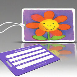 TagCrazy Luggage Tags For Kids, Dandelion Design, Durable Plastic Loops- 1 Pack