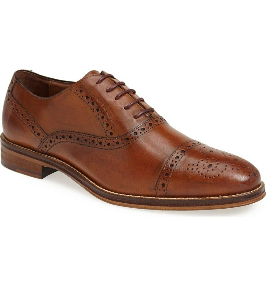 Johnston Amp Murphy Men S 20 8682 Conard Tan Cap Toe Oxford