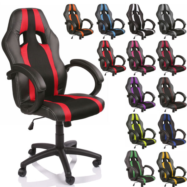 Executive Swivel Office Chair Racing Gaming Leather Computer Desk Chair Sports