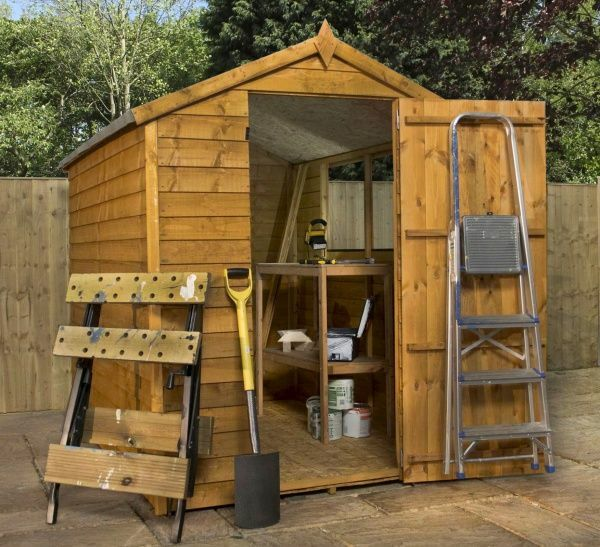 7x5 overlap apex shed ebay for Garden shed 7x5